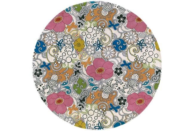 69 Inch Round Rug-Jackie Floral - 360
