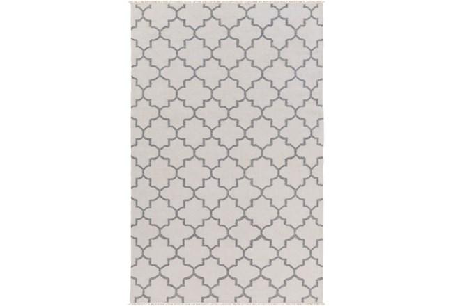 60X90 Rug-Amara Ivory/Grey W/Fringe - 360