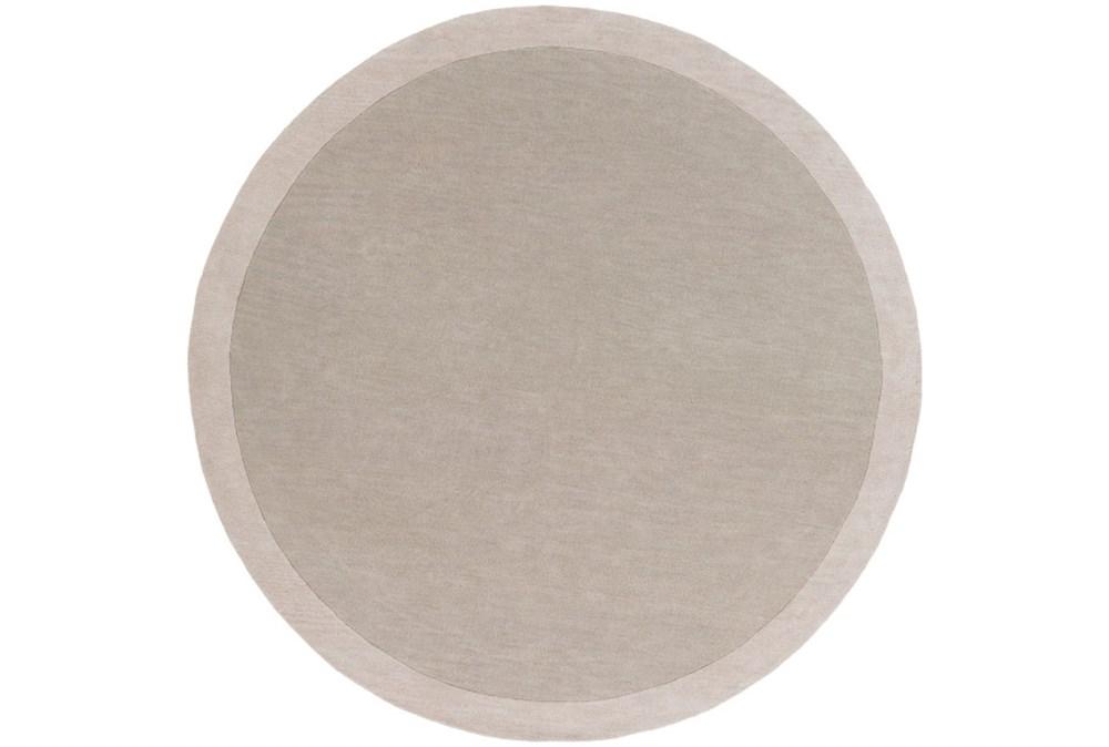 72X72 Rug-Cuadro Round Light Grey