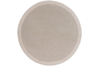 72X72 Rug-Cuadro Round Light Grey