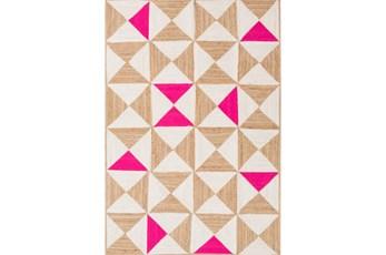 60X90 Rug-Hourglass Beige/Hot Pink