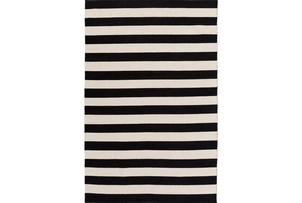 24X36 Rug-Puerto Stripe Black