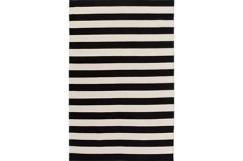24X36 Rug-Puerto Stripe Black