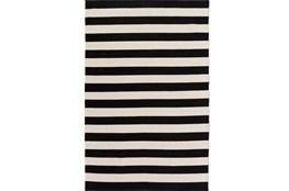 39X63 Rug-Puerto Stripe Black