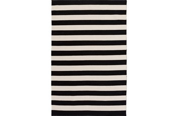 39X63 Rug-Puerto Stripe Black