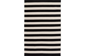 96X120 Rug-Puerto Stripe Black