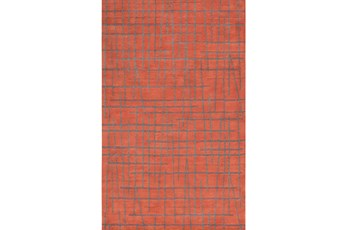 60X96 Rug-Sticks Rust/Grey
