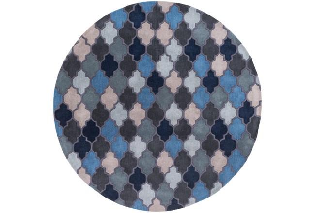 96X96 Rug-Einstein Round Blue - 360