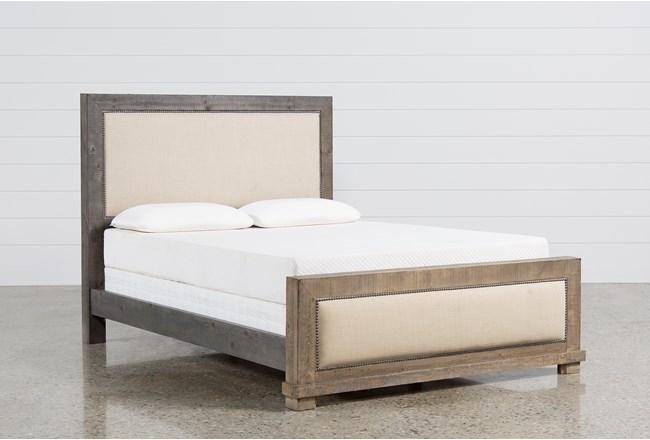 Sinclair Grey Queen Panel Bed - 360