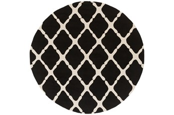 96 Inch Round Rug-Kern Charcoal