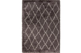 96X120 Rug-Faith Shag Charcoal