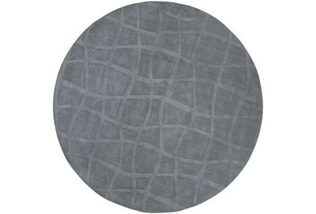 96 Inch Round Rug-Stelvio Grey - 360