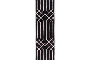 30X96 Rug-Edifice Black