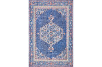 66X102 Rug-Nancy Cobalt/Poppy