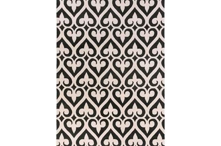 108X156 Rug-Herz Black/Ivory