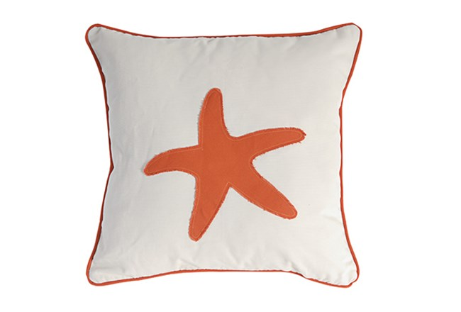 Accent Pillow-Coral Starfish 18X18 - 360