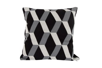 Accent Pillow-Tucker Black Knit 20X20