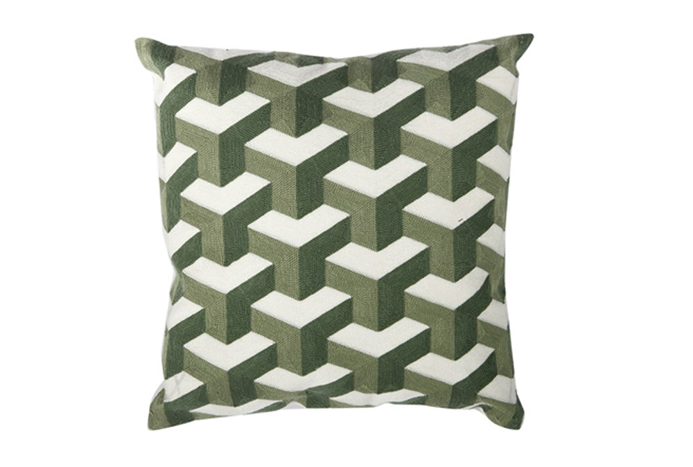 Accent Pillow-Dimensional Green 18X18