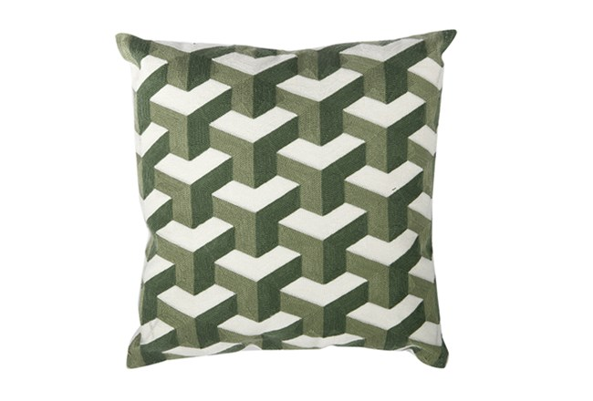 Accent Pillow-Dimensional Green 18X18 - 360