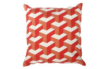 Accent Pillow-Dimensional Orange 18X18