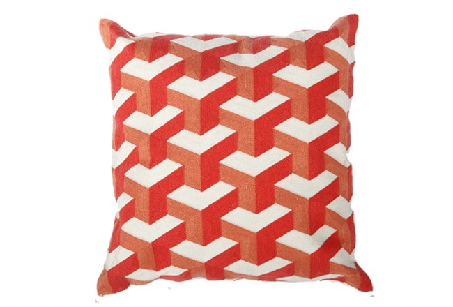 Accent Pillow-Dimensional Orange 18X18 - 360