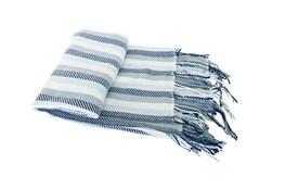 Accent Throw-Cass Stripe Blue
