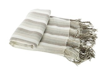 Accent Throw-Cass Stripe Green