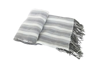 Accent Throw-Cass Stripe Grey