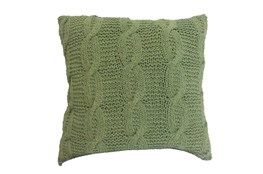 Accent Pillow-Jenna Green Knit 18X18