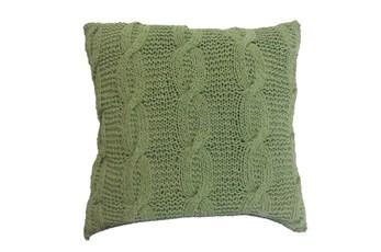 Accent Pillow-Jenna Green Knit 18X18