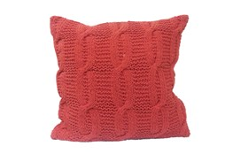 Accent Pillow-Jenna Orange Knit 18X18
