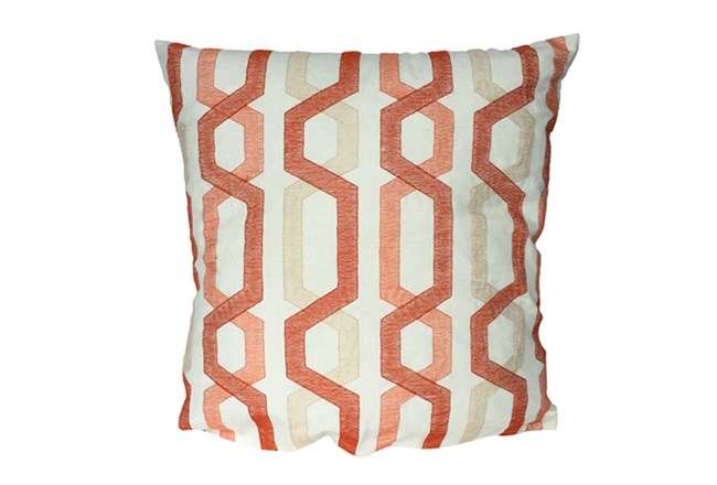 Accent Pillow-Gio Lynx Coral 18X18 - 360