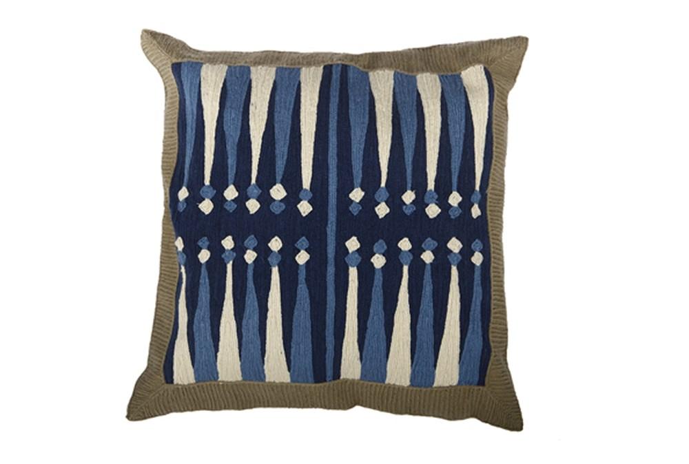 Accent Pillow-Backgammon Blue 18X18