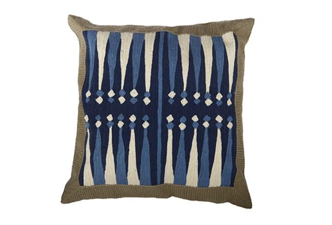 Accent Pillow-Backgammon Blue 18X18 - 360