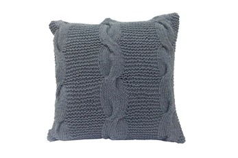 Accent Pillow-Carey Grey Knit 18X18
