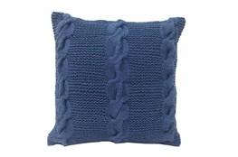 Accent Pillow-Carey Blue Knit 18X18