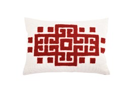 Accent Pillow-Meandros Red 14X20