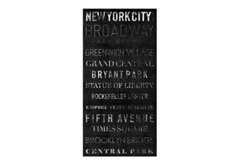 Picture-Typography B & W New York 24X48