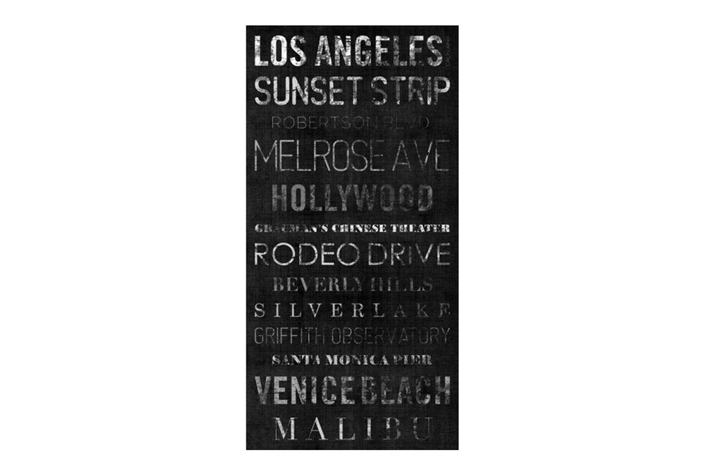 Picture-Typography B & W Los Angeles 24X48