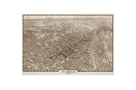 Picture-Los Angeles Map 1909 36X24