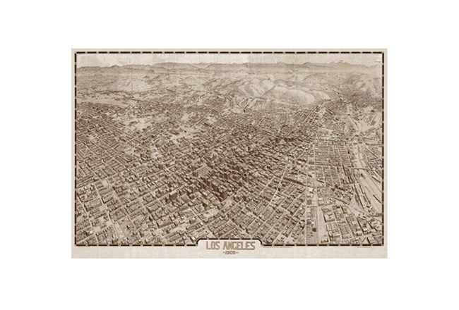 Picture-Los Angeles Map 1909 36X24 - 360