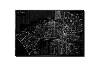 Picture-Los Angeles Map B & W 36X24