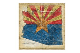 Picture-Az State Flag 38X38
