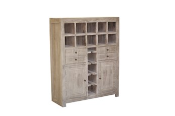 Pickle Grey Wine Cabinet