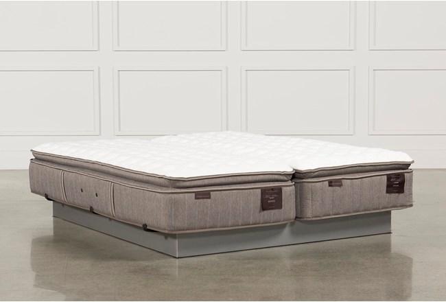 Scarborough Firm Euro Pillow Top Cal King Split Mattress Set - 360