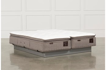 Scarborough Plush Euro Pillow Top Cal King Split Mattress Set