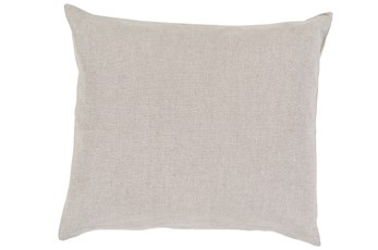 Accent Pillow-Barlow Solid Linen Grey 18X18