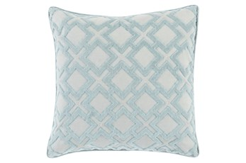 Accent Pillow-Avalon Geo Light Grey 22X22