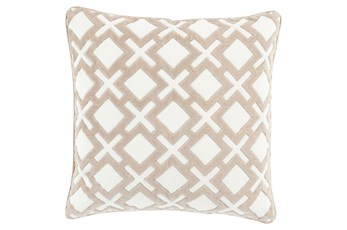 Accent Pillow-Avalon Geo Ivory 22X22