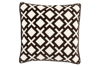 Accent Pillow-Avalon Geo Black/Ivory 20X20